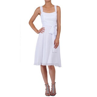 DFI Women's Sleeveless Cowl Neck Short Dress