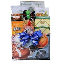 Great Arrivals Armchair Athlete: Birthday Sports and Snacks Gift Basket