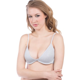 Hers by Herman Women's Blue and Grey T-shirt Bra Set (2-Pack)