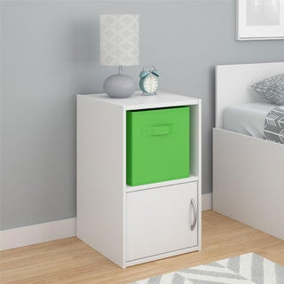 Altra Lucerne Nightstand with Fabric Bin