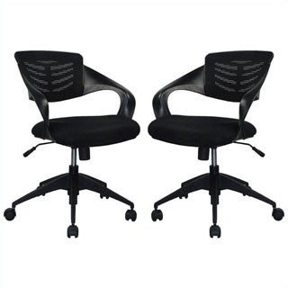 Manhattan Comfort Grove Mid-back Office Chair (Set of 2)