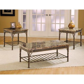 Madison Marble Coffee Table (Set of 3)