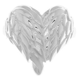 Sterling Silver Angel Wing Heart Ring