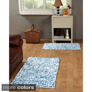 Hand Woven Paper Shag Rug Set of 2 (21 x 34inches and 27 x 45 inches)