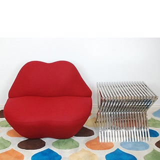 Mod Made Red Kiss Microfiber Chair