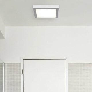 Access Lighting Strike LED Square 10-inch Flush Mount, Silver