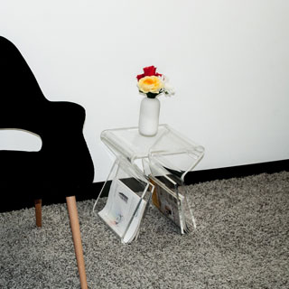 Mod Made Acrylic Magazine Rack Stool