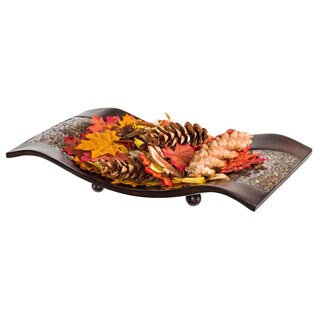Schonwerk Decorative Walnut Color Centerpiece Dish