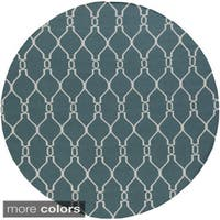 Hand-Woven Doris Moroccan Trellis Wool Area Rug - 8'