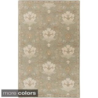 Hand-Tufted Widnes Floral Wool Rug (6' x 9')