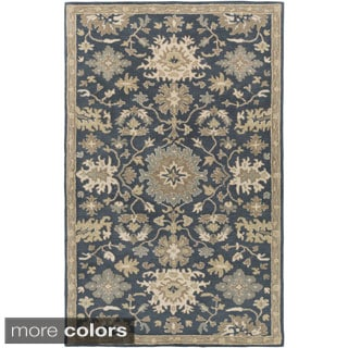 Hand-Tufted Tipton Floral Wool Rug (7'6 x 9'6)