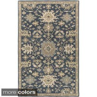 Hand-Tufted Tipton Floral Wool Area Rug (7'6 x 9'6)