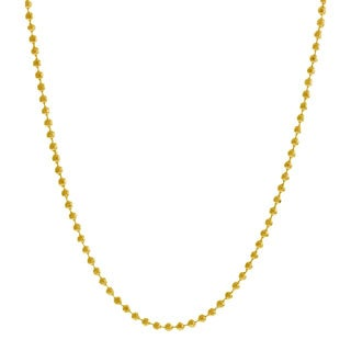Pori Italian 14k Goldplated Sterling Silver Bead Diamond-cut Chain Necklace