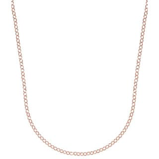 Pori Italian 14k Rose Goldplated Sterling Silver Rolo Chain Necklace