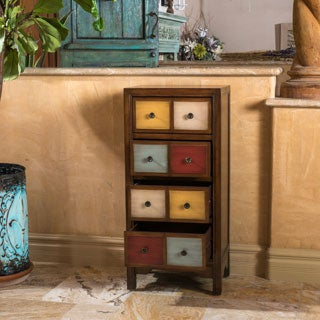 Christopher Knight Home Everest Four-Drawer Multi-Color Wood Cabinet