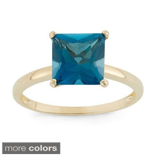 10k Yellow Gold Princess-cut Birthstone Ring