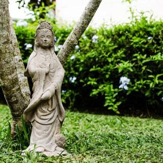 Handmade Volcanic Ash Quan Yin Statuette (Indonesia)