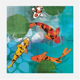 Tandi Venter 'Lucky Koi ll' 22 x 22 Framed Art Print