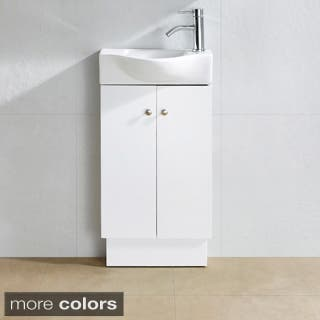 White up to 20 inches bathroom vanities vanity cabinets - 20 inch bathroom vanity and sink ...