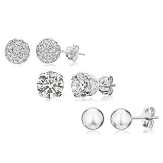 Pori Sterling Silver Crystal and Cubic Zirconia 3-piece Stud Earrings Set|https://ak1.ostkcdn.com/images/products/P17194283m.jpg?impolicy=medium