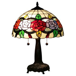 Amora Lighting Tiffany Style Floral 20-inch Table Lamp