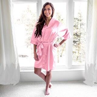 Personalized Light Pink Satin Robe