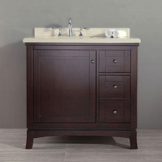 OVE Decors Valega 36-inch Single Bowl Bathroom Vanity with Marble Top