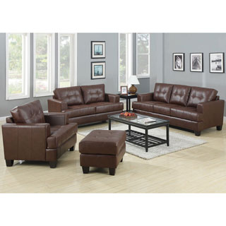 Clay Alder Home Severn 3-piece Leather Living Room Set