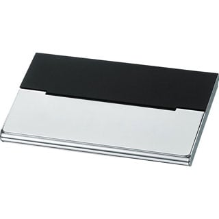 Visol Malta Black Matte Silverplated Business Card Case