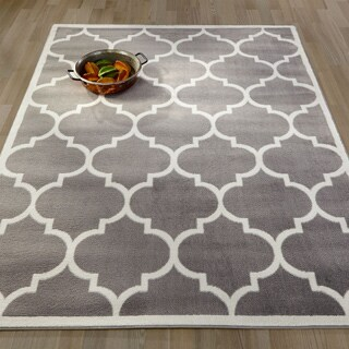 Home Decor Clearance small clear standing acrylic letter d Clearance Ottomanson Contemporary Moroccan Trellis Area Rug 5