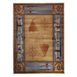 Compass Design Camel Area Rug (5'x7')|https://ak1.ostkcdn.com/images/products/P17205025a.jpg?impolicy=medium
