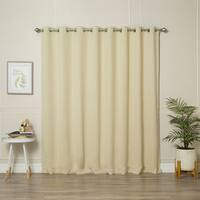 Aurora Home Extra-Wide Thermal Insulated 84-inch Blackout Curtain Panel - 100 x 84