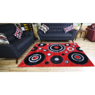 Rya Extra Plush 1022 Red Area Rug (8' x 11')