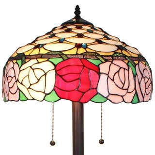 Amora Lighting Tiffany Style Roses 61-inch Floor Lamp