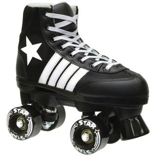 Epic Black Star Quad Indoor / Outdoor Roller Skates