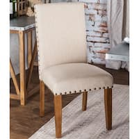 "Pine Canopy Geum Upholstered Dining Chair (Set of 2) - 19 1/2""W X 24""D X 39""H (Seat Ht: 19"", Seat Dp: 18"""