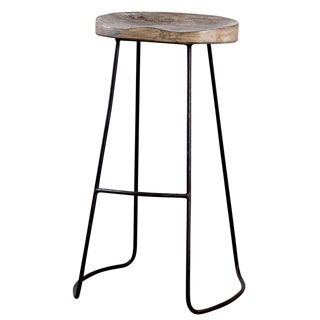 "CG Sparks Iconic Tractor Seat 29"" High Bar Stool (India)"