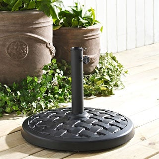 Black Round Umbrella Base