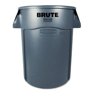 Rubbermaid Commercial 44-gallon Grey Brute Vented Trash Receptacle
