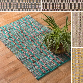 Flatweave Tabby Cotton Chindi Rug (1'8 x 3'0)