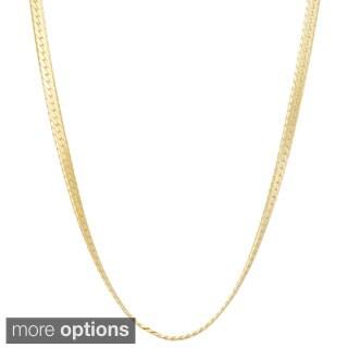 Gioelli Sterling Silver Herringbone 2.3mm Chain Necklace