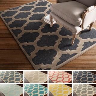 Hand-tufted Tetbury Moroccan Trellis Wool Rug (6' x 9')