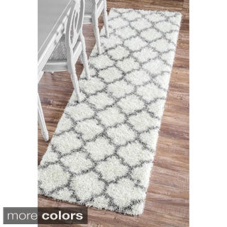 nuLOOM Moroccan Trellis Soft and Plush Shag Runner Rug (2'8 x 8')