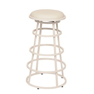 Ringo 30-inch Backless White Metal Barstool