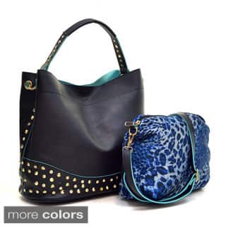 Dasein Faux Leather Studded 2-in-1 Hobo Bag|https://ak1.ostkcdn.com/images/products/P17240779a.jpg?impolicy=medium