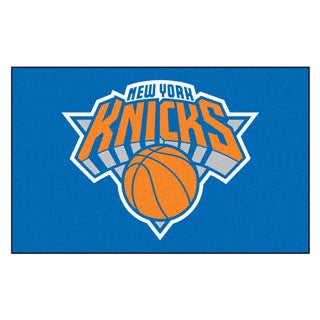 Fanmats Machine-made New York Knicks Blue Nylon Ulti-Mat (5' x 8')