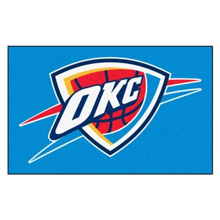 Fanmats Machine-made Oklahoma City Thunder Blue Nylon Ulti-Mat (5' x 8')