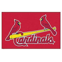 Fanmats Machine-made St. Louis Cardinals Red Nylon Ulti-Mat (5' x 8')