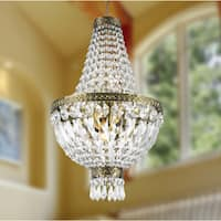 Empire 5-light Antique Bronze Finish with Full Lead Crystal Basket Mini Chandelier