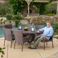Blakely Outdoor 7-piece Wicker Dining Set by Christopher Knight Home